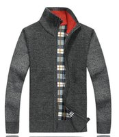 Cheap Men s Cotton Mens sweaters Winter Autumn men Overcoat New Fashion White blue green Red Gray Sweater