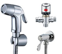 abs mixer - Chrome ABS Bidet spray gun Toilet flusher Hand Shower Brass Thermostatic Mixer Value cm Shower hose Shower holder