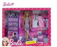 barbie dolls - Original Genuine Brand Barbie Doll BCF73 Barbie girl s shiny fashion combination New Year Gift