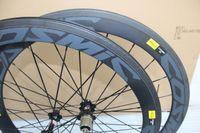 Wholesale 50mm road bike wheelset full carbon red white wheelset clincher Tubular carbon hub is availabler