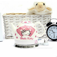 Wholesale New arrival Hello Kitty lovely Japanese style creative water bottles ceramic electric kettle