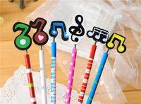 Wholesale Hot Novelty Stationery Wooden Craft Cartoon Music Pencil Drawing Pens Signal Korea Creative Christmas Gift Styles Seals168 ZJ T06