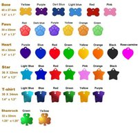 Wholesale aluminum pet tag pet id tags dog cat tags mixed assorted colors