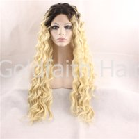 Cheap dark root wig blond Best ombre wig blond
