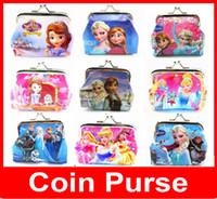 Wholesale Girl Purse Children Bags Frozen Coin Purse Girls D Cartoon with Iron Button Shell Bag Wallet Purses Children Kids Christmas Gifts Coin Bags
