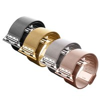Wholesale 4 Colors New Strap Bracelet Band Metal Replacement For Apple Watch Fre Shipping