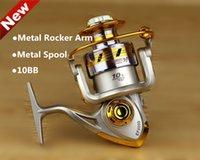 Cheap Free Shipping 10 Ball Bearings 1000-7000 Series Carp Fishing Reel Metal Spool Spinning Reel Sale For Feeder Fishing 2014 New