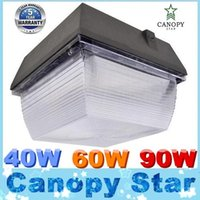60w led - Super Bright Gas Station Led Canopy Lights W W W AC V Led Floodlights Cold White lm lm lm CE DLC cUL UL