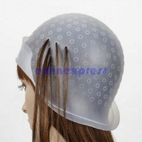 Wholesale Brand New And Good Quality Rubber Hair Color Highlighting Cap Metal Hook Hair Salon Can Be Used Again
