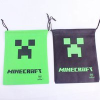 baby stuff - Minecraft Bag Backpack MC Creeper Drawstring Sling Bag Stuff Sacks Party Decoration Kids Baby Gift Bag High Quality DHL Factory Price