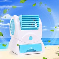 battery table fan - 2015 Summer Portable Mini Handheld Air Conditioner USB Battery Fragrance Small Table Cooling Fan Piece