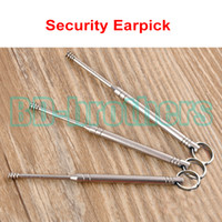 Wholesale 0 x cm Stainless Steel Spiral Safety Earpick Curette