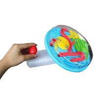 ball with handle for kids - Kids Intellect Ball Toy Plastic Maze Steel Ball With Hand Control Handle Novelty Game Gift For Children Early Educational Adult