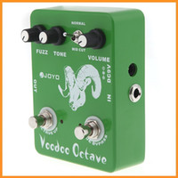Wholesale Electronic JOYO JF Voodoo Octave Fuzz Effect Guitar Guitarra Parts Effect Pedal True Bypass for Musical Instrument Via DHL