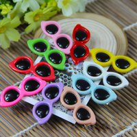 Wholesale Hot Sale Dog Hair Accessories Colors Small Dog Sunglasses Bows Summer Dog Grooming Bows Pet Dog Hair Clip