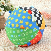 Wholesale 2015 New Baby Infant s Colorful Toy Bell Ring Ball Educational Sensory Sport Ball SV0014004