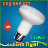 Wholesale LED R80 W E27 led spotlight W lightbulb SMD2835 umbrella lamp led v v v v V