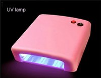 uv lamp - Professional uv nail lamp uv lamp watt V gel curing nail art machine NAIL nail gel polish dryer pink with four bulb