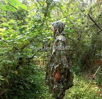 Wholesale Hunting Ghillie Suits Camo D Leaf Yowie Ghillie Breathable Open Poncho Type Camouflage Birdwatching Poncho Sniper Suit