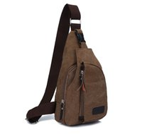 Wholesale Men s Fashion Casual Canvas Bags Vertical Waist Chest Bag Shoulder Satchel Pack Outdoor Haversack for Travel Sports