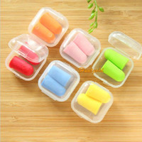 Wholesale Health Care Soft Foam Ear Plugs Anti Noise Snore Reducer Reusable Earplugs Sleep Aids Pairs Random Color