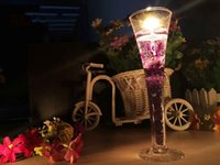 Flower aroma wedding - Romantic aroma smoke free jelly candles valentine s day special goblet candlelight dinner wedding hotel furnishing articles