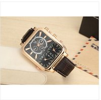 Cheap 2015 brand watches men watch V6 brand fashion movement outdoor sports large dial quartz leather strap 3 time clock dropship
