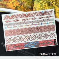 arm python - Python skin Metal gold temporary body tattoo sticker bracelet necklace arm band pendant leg jewelry