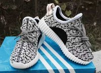 Wholesale Children aadidas Originals Kanye Milan West Yeezy Boost boys Classic grey Fashion low Sneaker boys athletic Shoes for kids