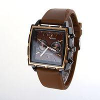 auto silicone - 2016 New Fashion Atmos Clock Men Quartz Watch Genuine Leather Strap Watches Military Watches Men Luxury Brand Relogio Masculino