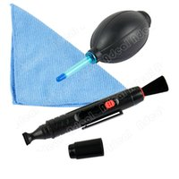 Wholesale New in Lens Cleaning Cleaner Dust Pen Blower Cloth Kit For DSLR VCR Camera Canon TK0877