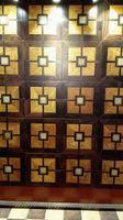 Wholesale Checkered floor fight wood floor Black w Medallion Asian pear Sapele wood floor Private custom wood floor Burmese teak wood floor