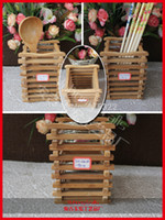 bamboo brush pot - Environmental bamboo craved pen cases creative bamboo pen brush pot table decorations amp accessories Chinese traditional craft