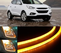 amber led strip lights - 60cm DRL Flexible LED Tube Strip Style Car Headlight Light Amber White For VW Jetta Eos Golf Passat R32 Tiguan Touareg