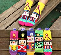 nutcrackers - New Arrival Women Socks Fashion lovely Cartoon cotton D Nutcracker printed Casual sock for woman