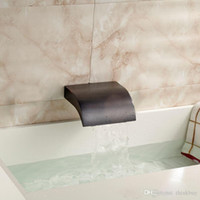 bathroom tub faucets - Wall Mount Brass Waterfall Basin Faucet Spout Bathroom Tub Spout Oil rubbed Bronze