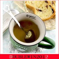 Wholesale 2015 Hot Sell quot Tea Time quot Heart Tea Infuser Heart Shaped Stainless Herbal Tea Infuser Spoon Filter