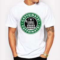 arrival dr - New arrival DR WHO men t shirt DALEK caffeinated design fashion male short sleeve doctor who tee shirts casual hipster cool tops