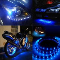 Wholesale 8 Blue Waterproof LED cm Car Lighting Flexible Strip Decorative Light Lamp