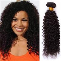 afro kinky human hair - 6A Brazilian Virgin curly Hair Weave bundles unprocessed afro kinky curly human hair virgin Brazilian kinky curly hair weft
