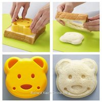 Wholesale Home DIY Cookie Cutter Plastic Sandwich Toast Bread Mold Maker Cartoon Bear Tool