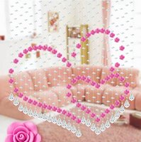 beads string string glass beads - Freeshipping Faces Cut Crystal Glass Pearls and Rose Curtain Beads Curtain String Bedroom Decoration Curtain for Wedding
