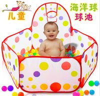 Wholesale 7777 Baby toy pool cm Children baby foldable baby marine ball pool polyester Cow Polka Dot point game house ball
