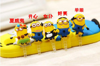 Wholesale Brand New Minions Despicable Me Cell Phone Anti Dust Gadgets MM Earphone Jack Dust Plug For Iphone For Samsung Galaxy For Sony