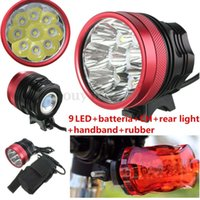 Wholesale 12000 LM x x x XM L2 T6 LED Front Bicycle Head Tail Light Bike HeadLamp
