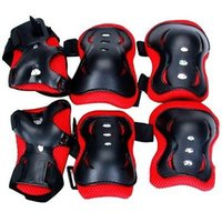 knee and elbow pads - Kid Cycling Bicycle Bike Roller Skating Knee Elbow Wrist Protective Pads Black And Red