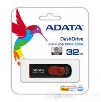 Wholesale 100 Real Capacity ADATA DashDrive C008 GB GB GB GB GB GB GB GB USB Flash Drive Pen drives MEMORY STICK