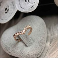 Wholesale Vintage Wedding Jewelry Charm Tail Crystal Ring For Women Silver Gold Plated Girl Party Dress Gift Heart Valentine s Gift