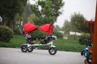 Wholesale 4in1 trike functional tricycle degree saddle tricycle for twins