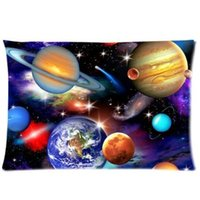 best solar covers - Decorative Universe Solar System Planets Earth Galaxy Nebula Two Side Fashion Custom Rectangle Best Pillowcase Pillow Case Cover X30 Inch